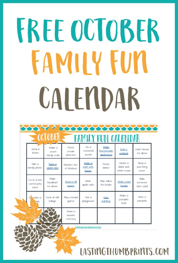 october family fun calendar free printable
