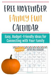 November Family Fun Calendar – Free Printable