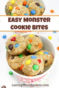 These yummy and easy Monster Cookie Bites will be a hit with the whole family!