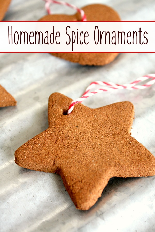 Making homemade spice ornaments is a fun Christmas activity.