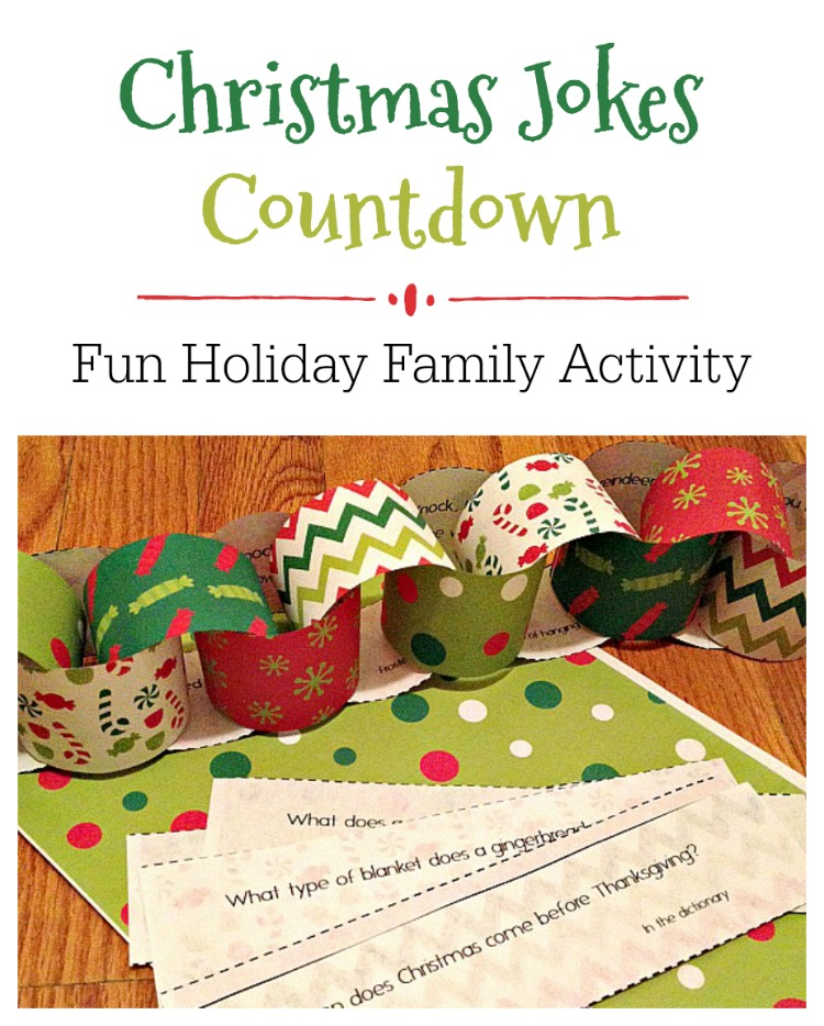 This free Christmas Jokes Countdown is a simple but fun holiday activity the whole famiyl will enjoy. Count down to Christmas while laughing with your family!